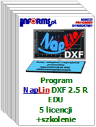 Program NapLin DXF 2.5 R EDU 5 licencji