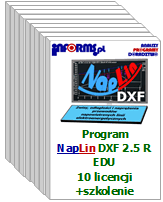 Program NapLin DXF 2.5 R EDU 10 licencji