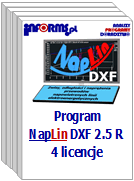 Program NapLin DXF 2.5 R 4 licencje